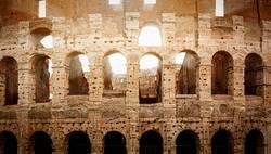 Roman Colosseum during sunset