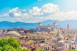 Panoramablick von Rom mit dem Capitoline-Hügel in Rom