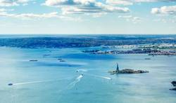 Panoramablick auf die Upper Bay in New York
