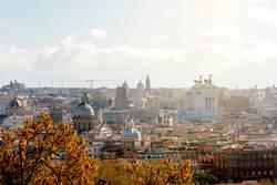 Luftaufnahme über Rom genommen vom gianicolo Hügel
