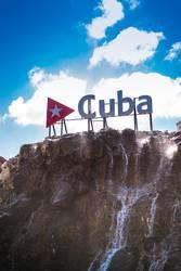 Cuba Schriftzug in Havana
