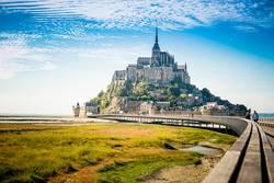 Le Mont-Saint-Michel in der Normandie in Frankreich