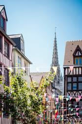 Altstadt in Rouen, Normandie, Frankreich