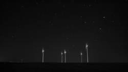 Windräder mit Sternen
