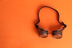 Steampunk type welder glasses for disguise