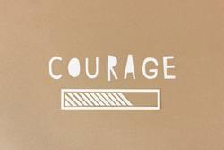 Courage loading - Ladebalken aus Papier