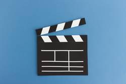 Premiere - Film Klappe Illustration aus Papier