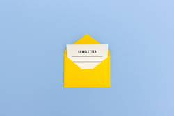 Newsletter - Briefumschlag mit Nachricht