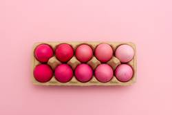 Easter eggs nicely colored