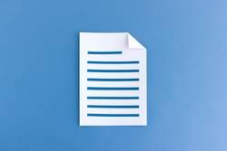 Artikel schreiben - Beschriebenes Blatt Papier