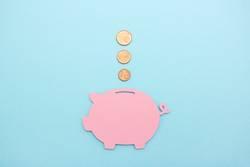1 2 3 Münzen fliegen ins Sparschwein