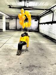 gelbe Ballons