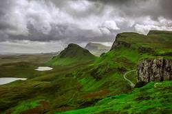 The Quiraing auf der Isle of Skye in Schottland
