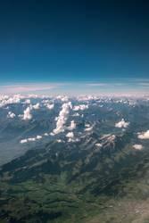 aus dem Flugzeugfenster