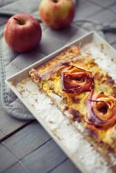 Äpfel-Rosen-Tarte