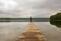 einfach allein sein