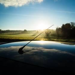 Sonnenspiegelung am Morgen