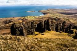 Isle Of Skye Küste mit Felsen