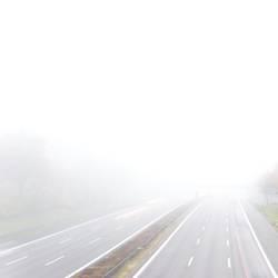 Dichter Nebel überm photocase-Land