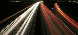 A57 bei Nacht