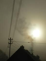 über den dächern. der smog.