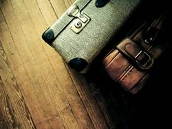 ich packe meine koffer und nehme ...