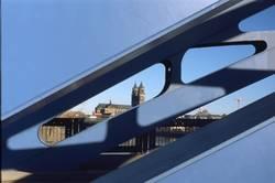Sternbrücke mit Dom in Magdeburg