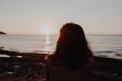 Strand Sonnenuntergang Urlaub Meer