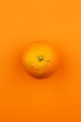 Jammy Orangenhaut auf Orange