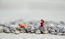 Akt - Klappe die fünfte - die Fotografin im Steinbruch