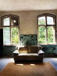 Das helle Sofa