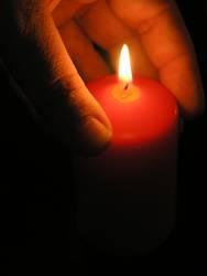 Kerzenlichterschein