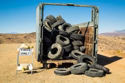 Recycled tires.