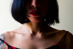 Girl with short hair