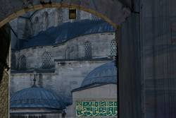 Close up view to Blue Mosque entrance, Istanbul