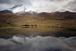 Amazing Indian Himalaya Landscape inside Marhka Valley summit