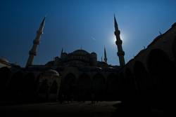 Picture inside of Blue Mosque located in Istanbul,