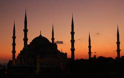 Blue Mosque Istanbul - sunset