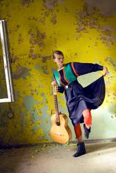 dancing girl with guitar