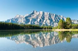 Mount Rundle from Cascade Ponds, Canada