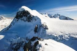 Breithorn mountain peak. View from kl. Matterhorn, Zermatt