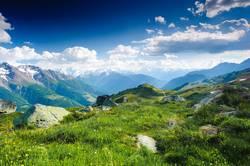 mountain panorama from fiescheralp and bettmeralp