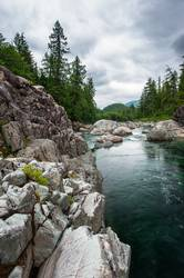 Small river on Sutton Pass, Vancouver Island, Canada