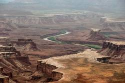 Distant canyons in Canyonlands National Park