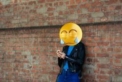 Emoji head girl