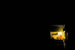 Kühlschrank (nachtens mach ich Foodfoto)