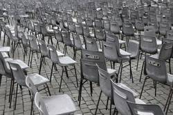 Stühle für Vorstellung openair