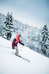 Lady on Ski