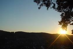 The sun says goodbye