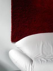 Sofa vor Teppich